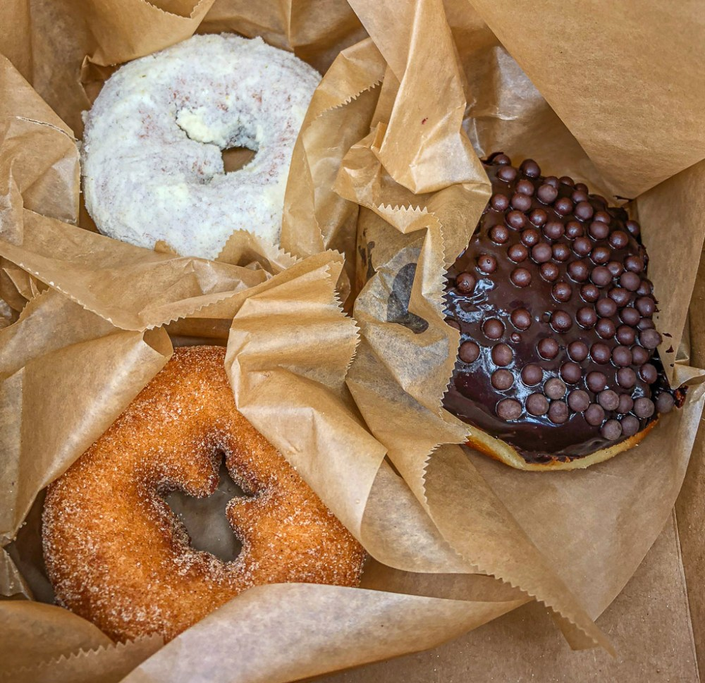 Vegan donuts from Blue Star Donuts in Portland, Oregon