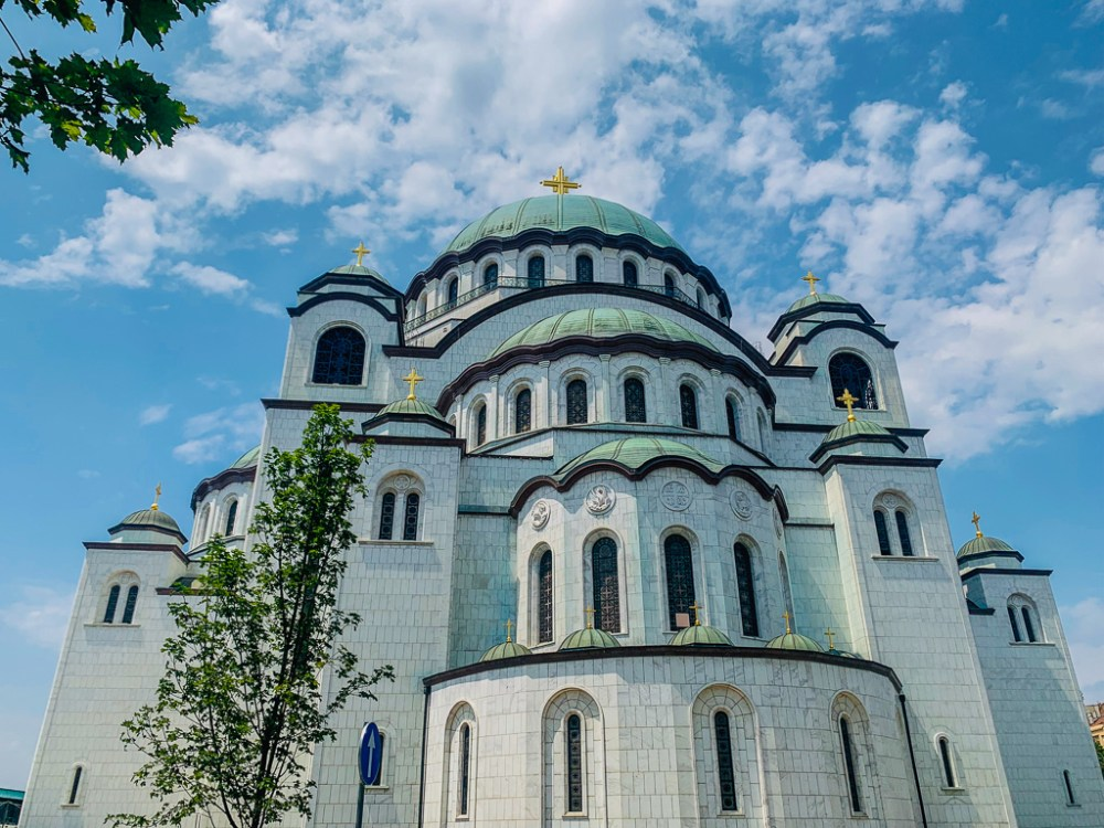 St Sava Church in Belgrade Serbia