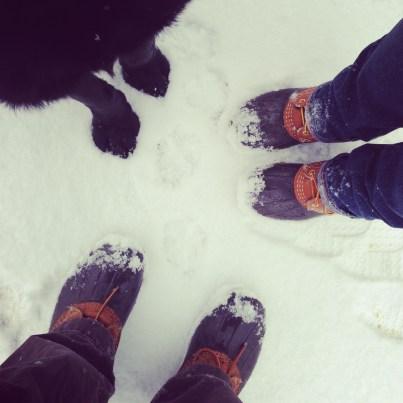 Snowy Feet