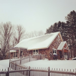 Marianmade Farm in the snow.
