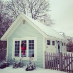 The studio in the snow.