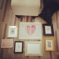 Orvis helps us set up our gallery wall