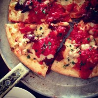Gluten free pizza at Otto.