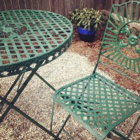 Newly painted patio furniture