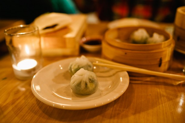 Spinach Dumplings at Empire