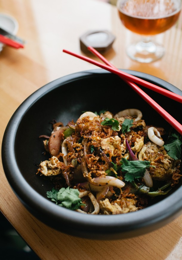 Wok Fried Wide Rice Noodles Honey Paw