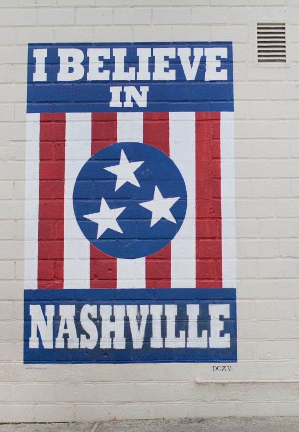 I Believe in Nashville Wall