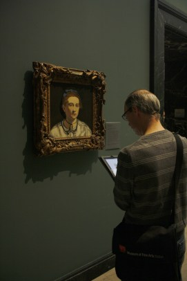 Man painting on his tablet