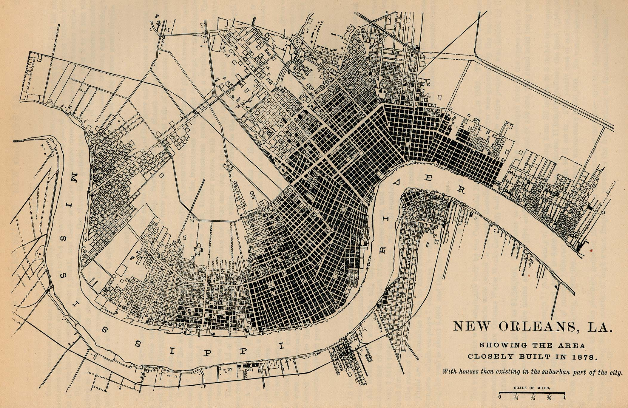 New orleans tourist attractions map. Maps Of New Orleans City Map Louisiana United States 1878 Mapa Owje Com