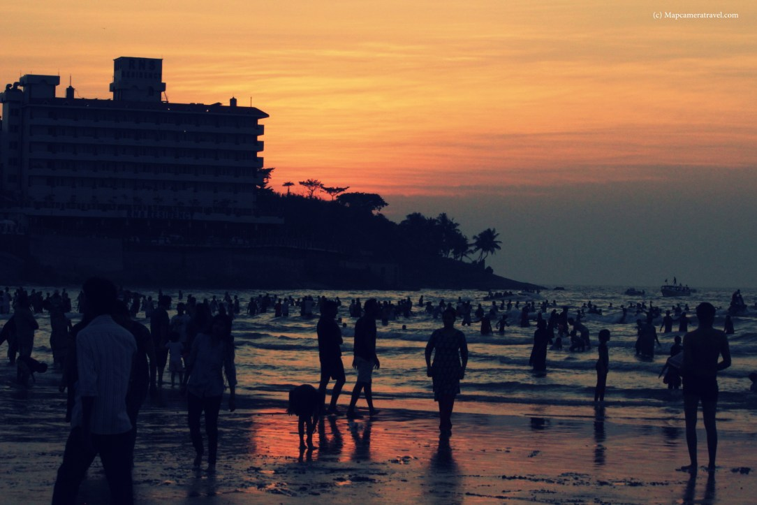 sunset at murdeshwar beach