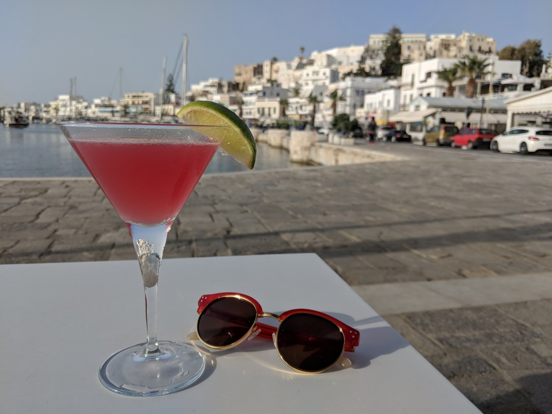 Cocktail by the Naxos beach