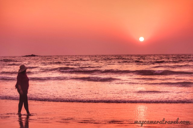 Sunset at Gokarna beach