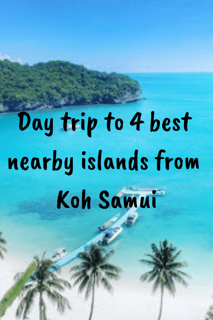 Day trip to 4 best islands from kohsamui