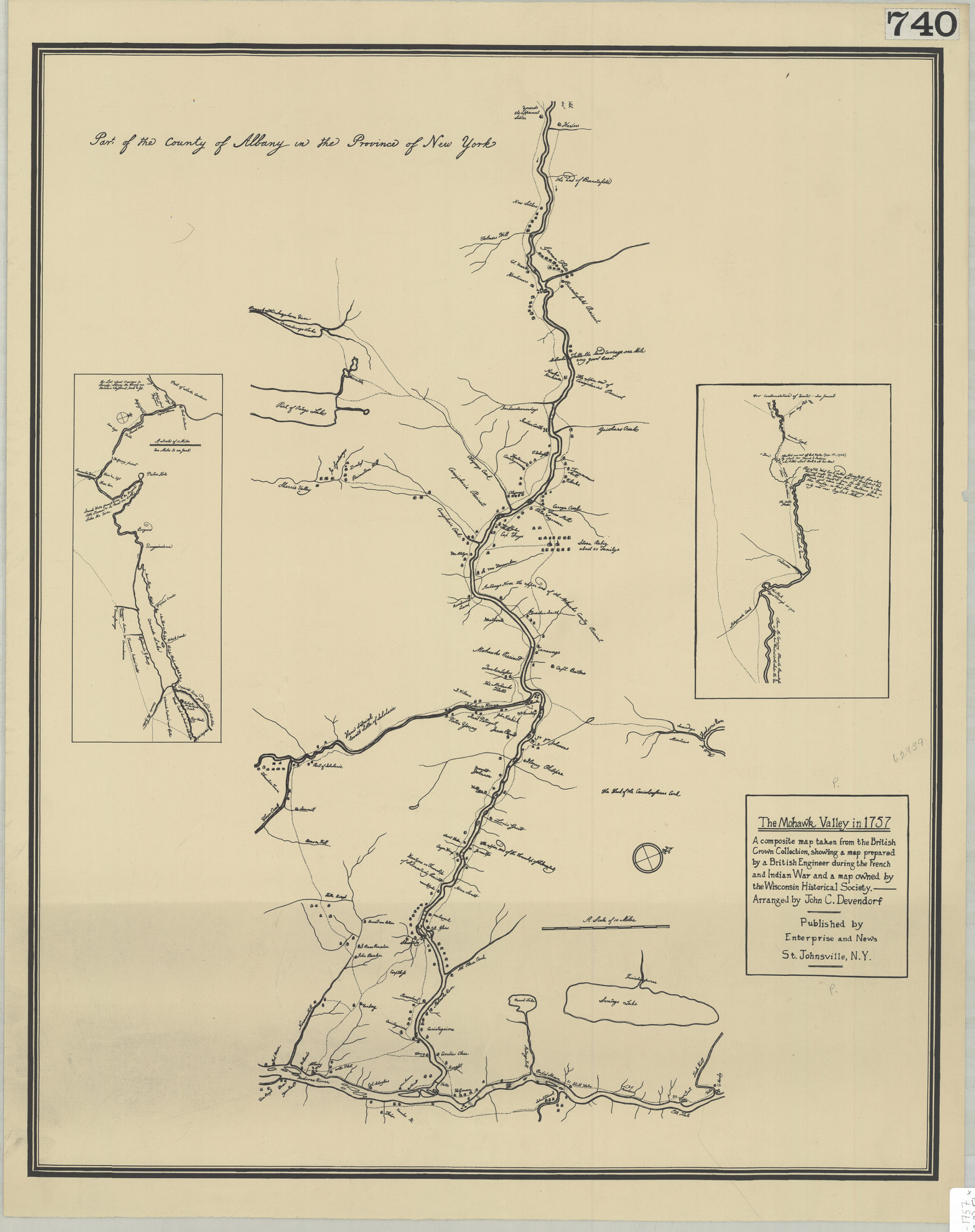 The Mohawk Valley In A Composite Map Taken From The