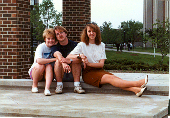 one cute couple and me--1992