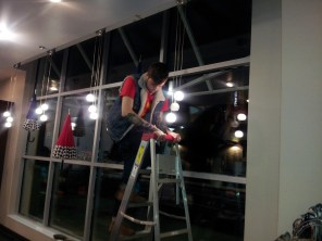 Working into the night