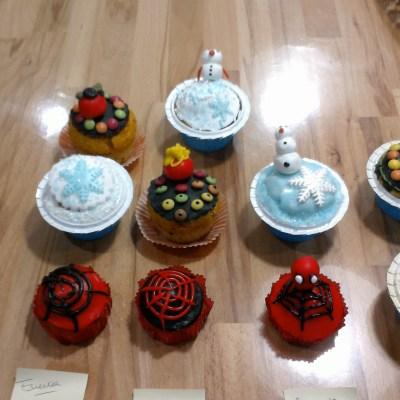 """Cupcakes """"Spiderman"""" et """"La Reines des Neiges"""""""