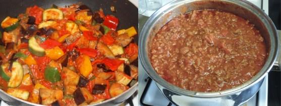 Casserole pleine de légumes vs casserole pleine de viande