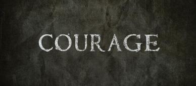 Panneau écrit ''Courage''