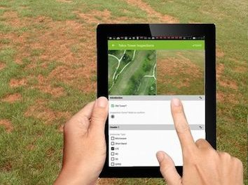 identifying turf disease on golf course using mapgage geospatial golf fieldapp and superimposing this on drone maps