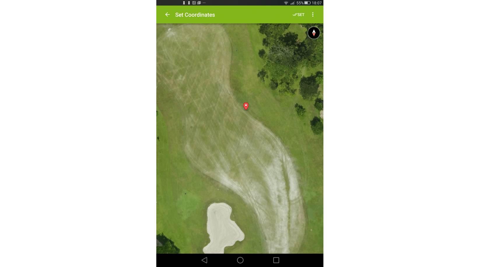 mapgage fieldapp screenshot golf issue record list detailed map view