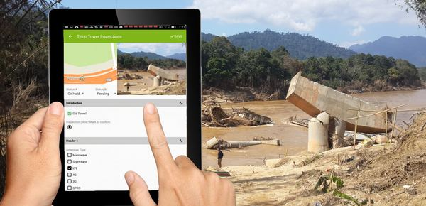 using mapgage geospatial app used to track infrastructure damages after a major natural disaster