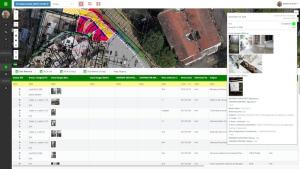 MapGage geospatial dashboard combining drones, blueprints and inspection reports