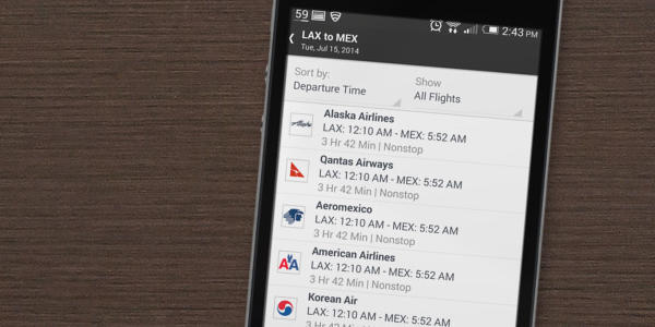 Alternate flight schedules. (Placeit)