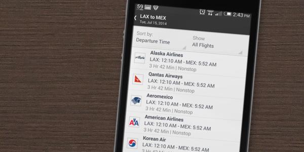 Alternate flight schedules. (Placeit)