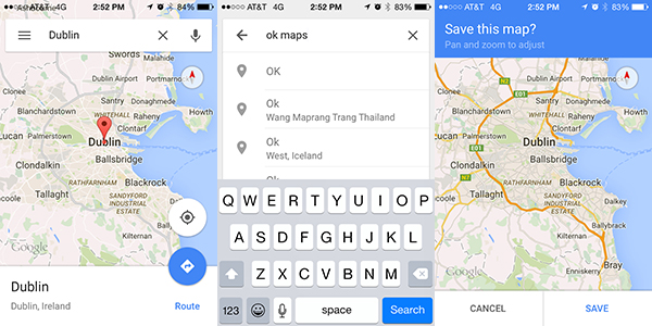 How To Enable Offline Maps in the Google Maps App | Map Happy Save Map For Offline Use on print maps, facebook maps, service maps, online interactive maps, advertising maps,