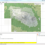 Georeferenced file loaded to Maperitive