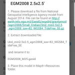 EGM2008 2.5'x2.5′ Instruction
