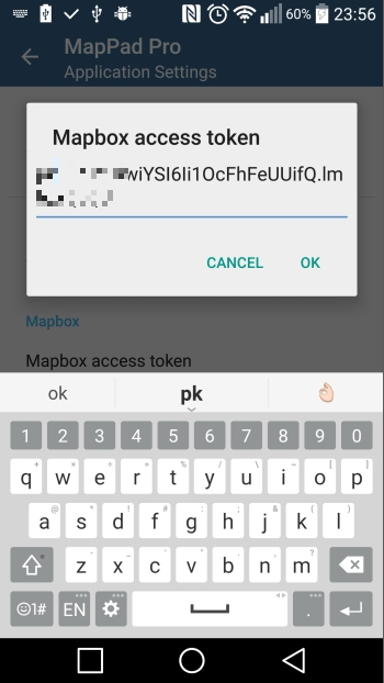 Adding Mapbox access token.