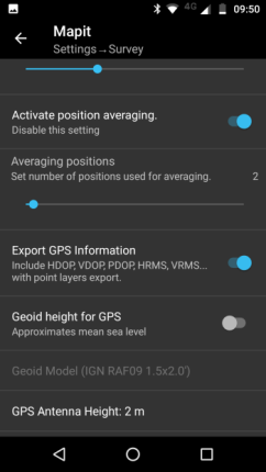 Survey Settings