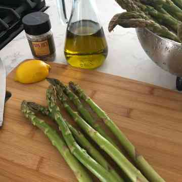 asparagus-lemon-olive oil-papa joe's