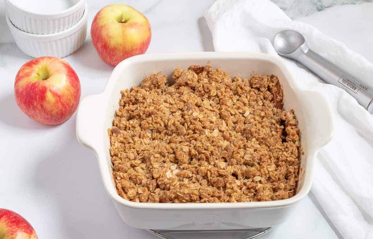 The Best Brown Butter Apple Crisp
