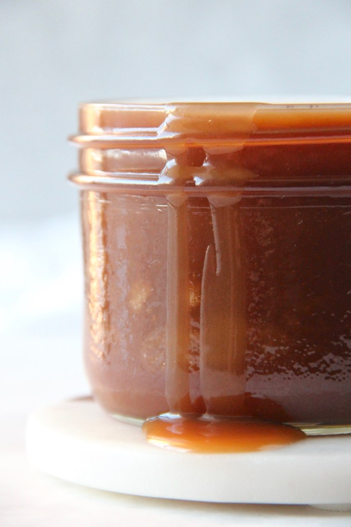Salted caramel - this easy and quick salted caramel recipe is perfect to use in your baked good, to dip your fruits in or just eat spoonfuls of!   mapleetchocolat.com