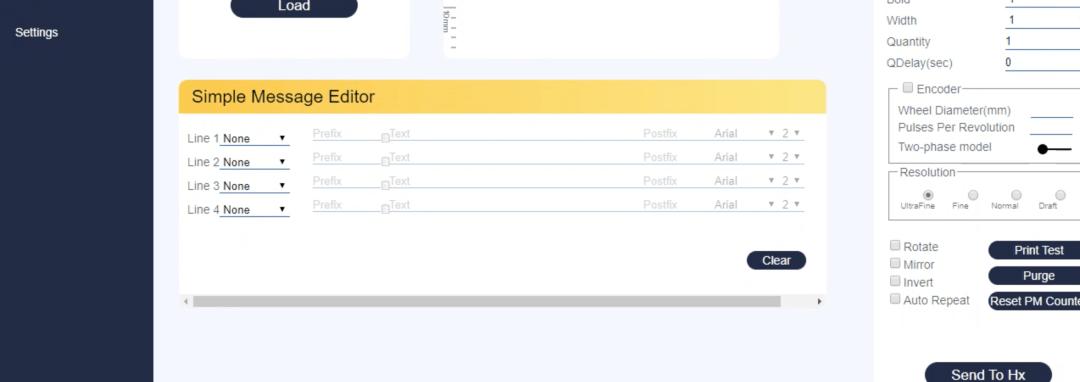 Simple Message Editor Display
