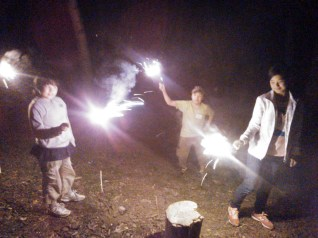Camp fire and Fireworks!