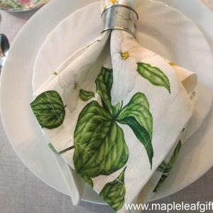 Linen Napkin Wild Flowers dinner table setting