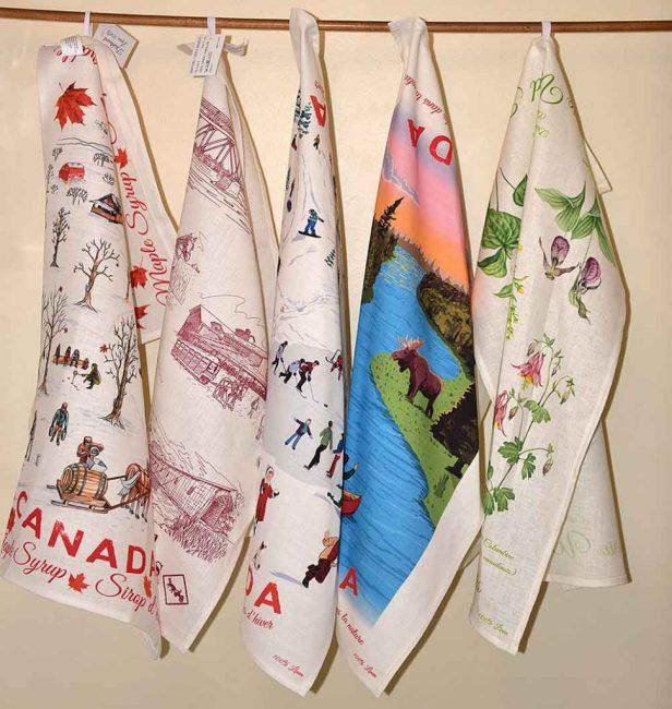 Canada Gift Linen Tea Towels