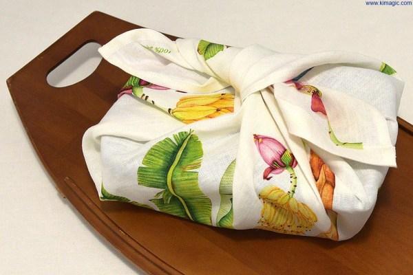 Luxury Linen Tea-towel St. Lucia Banana as wrap