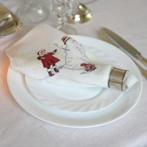Linen Dinner Napkins for the Winter Celebrations
