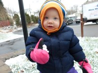 Theresa's first snowball