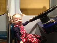 Drivin' the bus at the Children's Museum