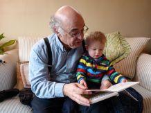 Grandpa reads Snuggle Puppy