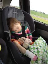 Munny and me asleep on the road