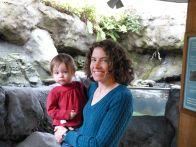 Audrey and Mama at the aquarium