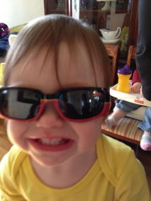 Audrey likes her shades.
