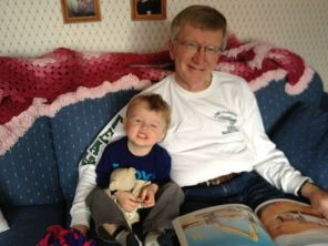 Grampy, Jamie, and the 138th reading of the Construction Alphabet book